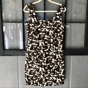 Milly of New York brown & white dress with pockets